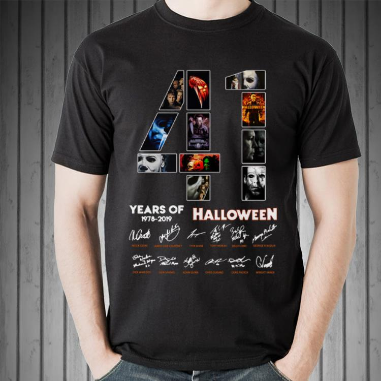 Awesome 41 Years Of Halloween 1978 2019 Jason Voorhees All Characters Signatures Shirt 2 1.jpg