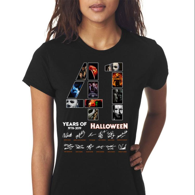Awesome 41 Years Of Halloween 1978 2019 Jason Voorhees All Characters Signatures Shirt 3 1.jpg