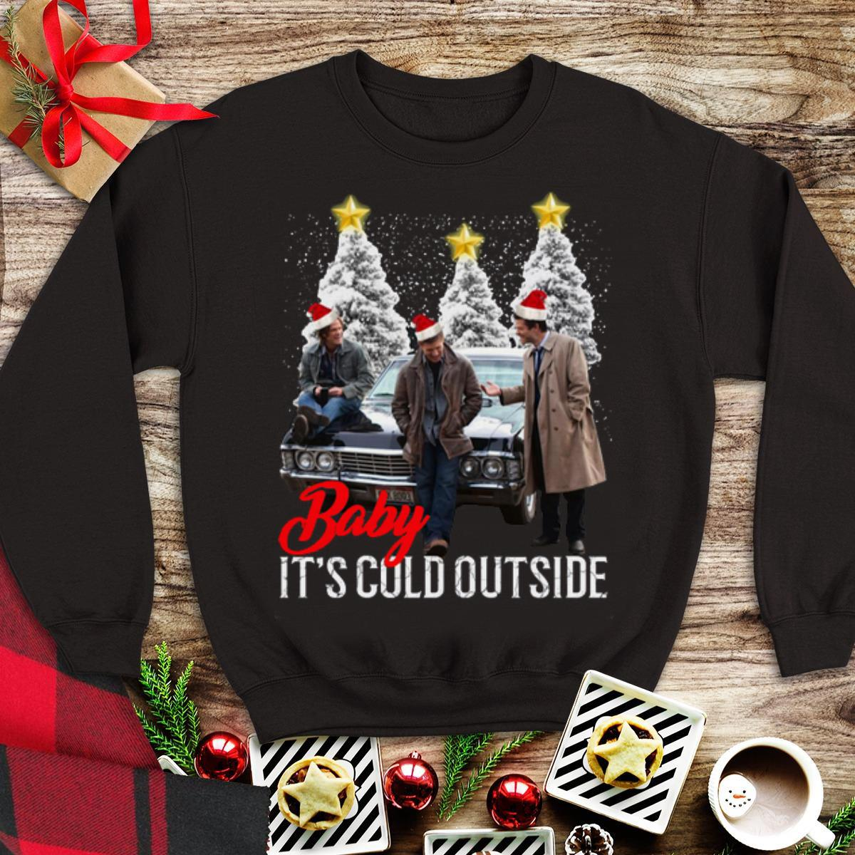 Awesome Baby It's Cold Outside Christmas Supernatural shirt