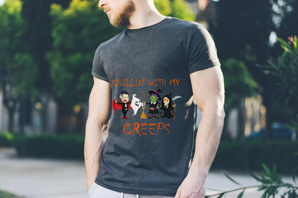 Awesome Chillin With My Creeps Vampire Ghost Witch Skeleton Shirt 3 1.jpg