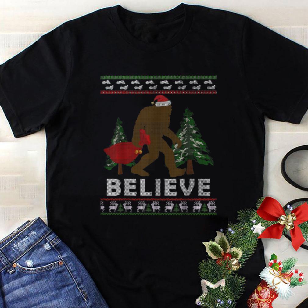 Awesome Christmas Santa Bigfoot Believe Ugly Christmas Shirt 1 1.jpg