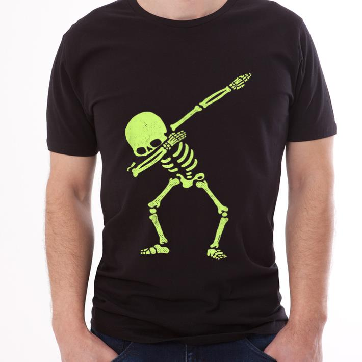 Awesome Dabbing Skeleton Dab Hip Hop Skull Dabbin Glow Effect Shirt 3 1.jpg