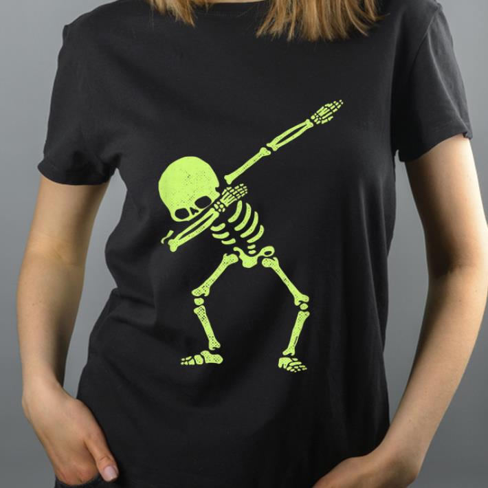 Awesome Dabbing Skeleton Dab Hip Hop Skull Dabbin Glow Effect shirt