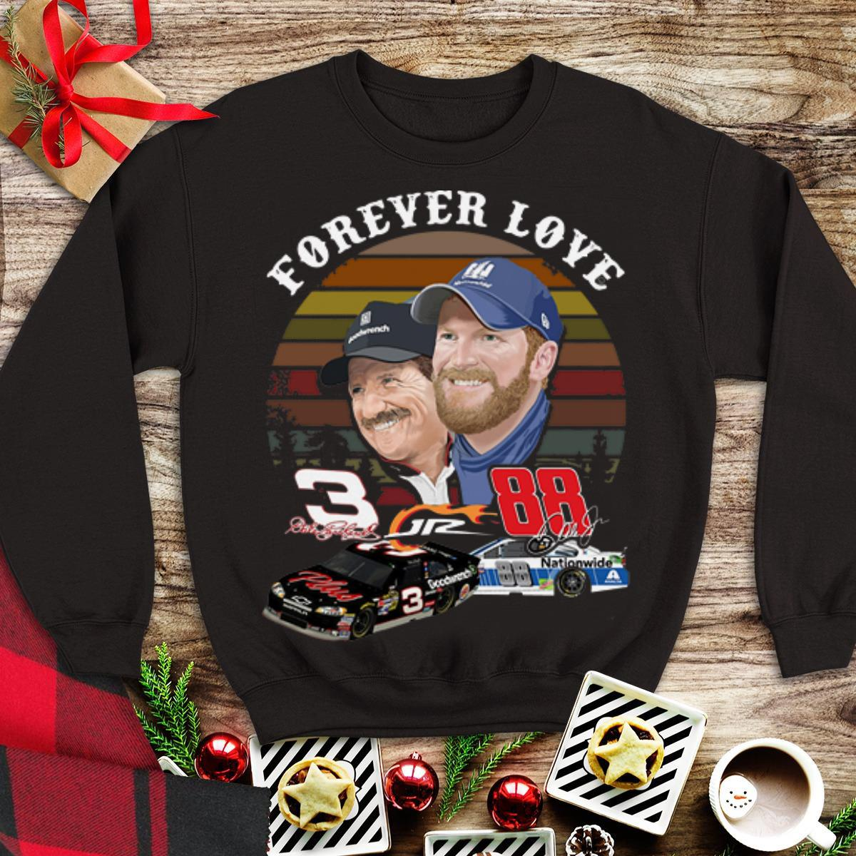 Awesome Dale Earnhardt Jr. And His Dad Forever love Vintage shirt