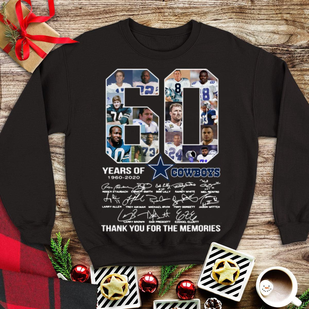 Awesome Dallas Cowboys 60 Years 1960 2020 Signatures Shirt 1 1.jpg