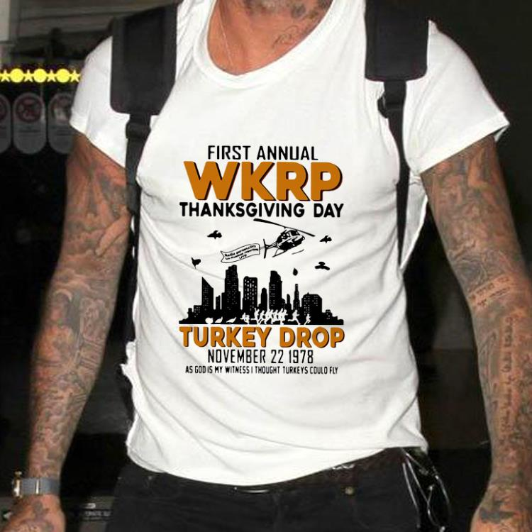 Awesome First Annual Wkrp Thanksgiving Day Turkey Drop November 22 1978 Shirt 2 1.jpg