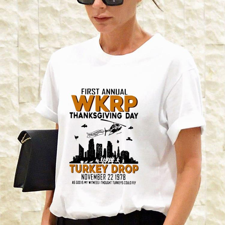 Awesome First Annual Wkrp Thanksgiving Day Turkey Drop November 22 1978 Shirt 3 1.jpg