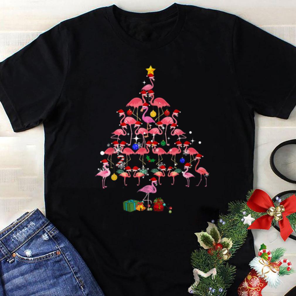 Awesome Flamingo Christmas Tree Present Gift Shirt 1 1.jpg