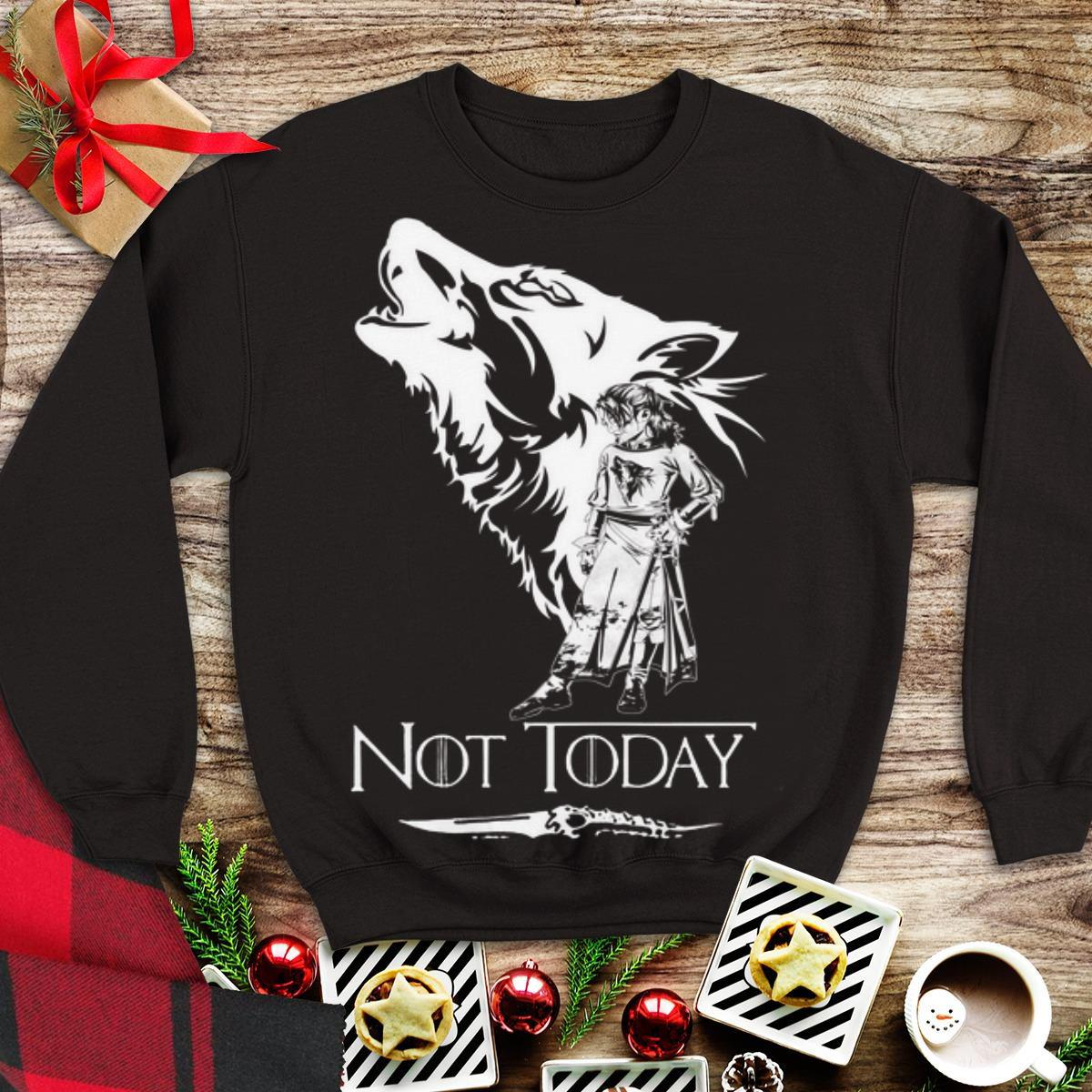 Awesome Game Of Thrones Wolf Arya Stark Not Today Shirt 1 1.jpg