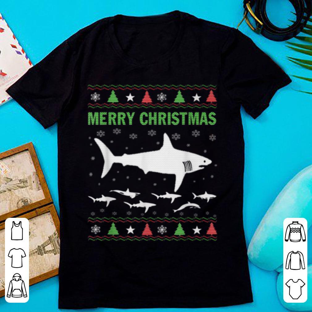 Awesome Merry Christmas Shark Ugly Sweater Shirt 1 1.jpg