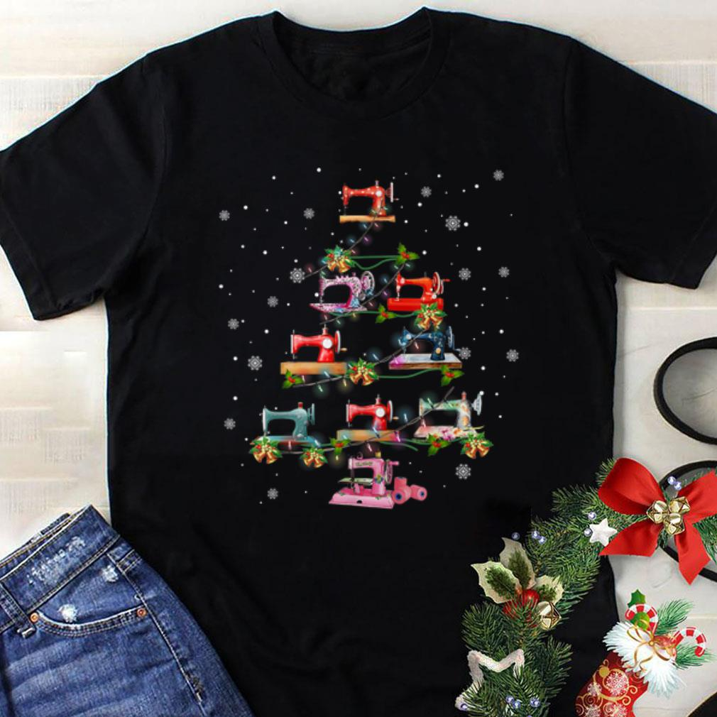 Awesome Sewing Machine Christmas Tree Quilting Lovers Shirt 1 1.jpg