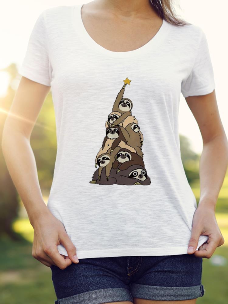 Awesome Sloth Christmas Tree Merry Christmas Shirt 3 1.jpg