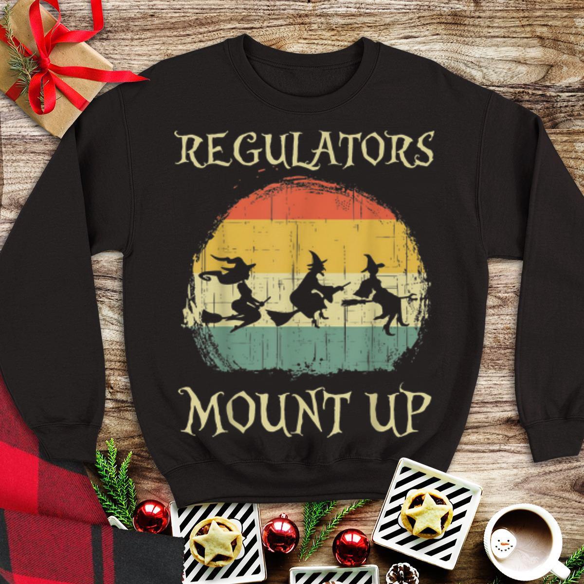 Awesome Vintage Regulators Mount Up Halloween Witch shirt