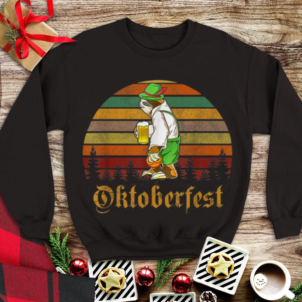 Awesome Vintage Sloth Beer Octoberfest shirt