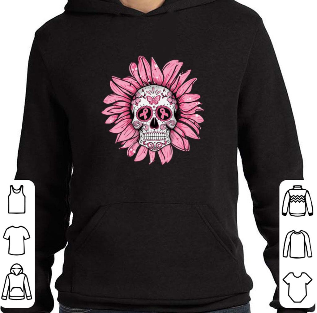 Funny Breast Cancer Awareness Sugar Skull Sunflower shirt