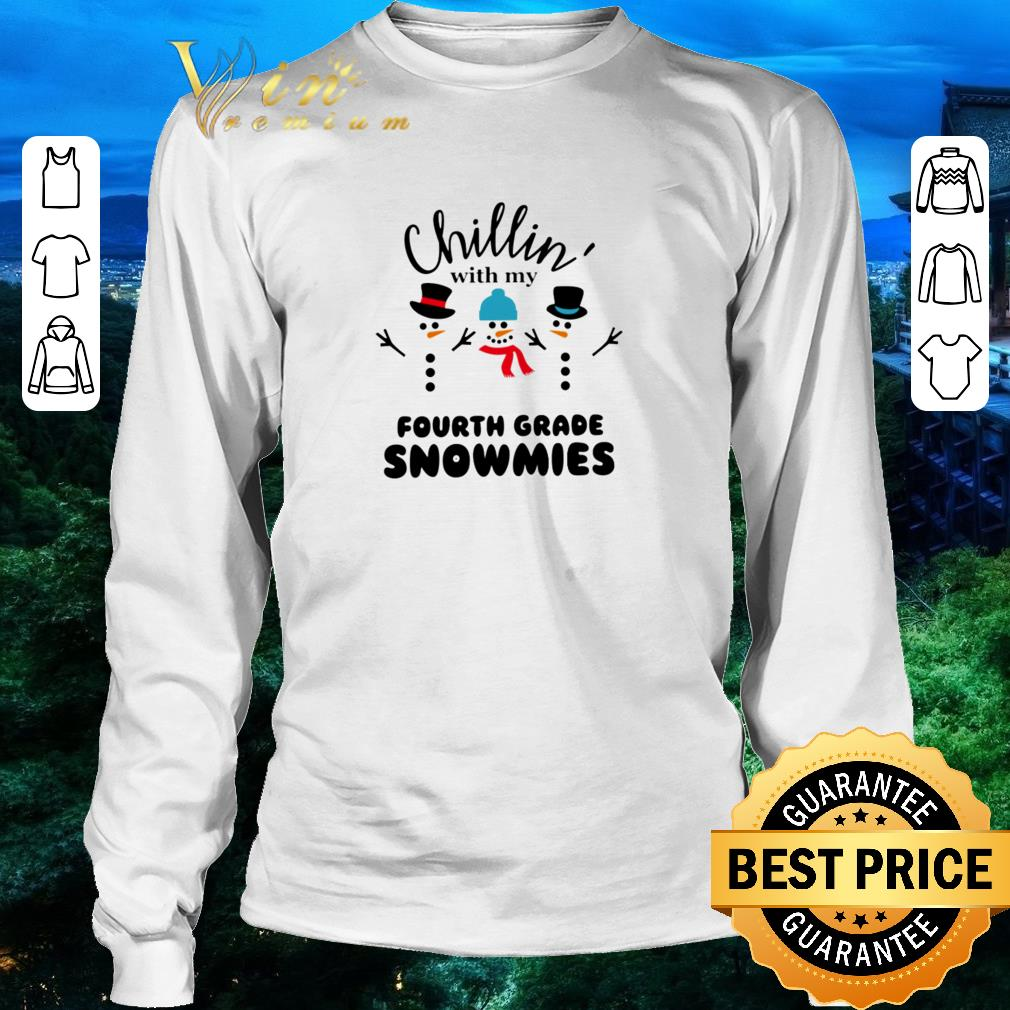 Funny Snowman Chillin With My Fourth Grade Snowmies Shirt 3 1.jpg