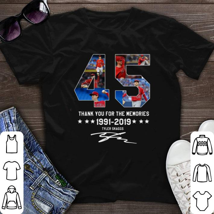 Hot 45 Thank You For The Memories 1991 2019 Tyler Skaggs Signature Shirt 1 1.jpg