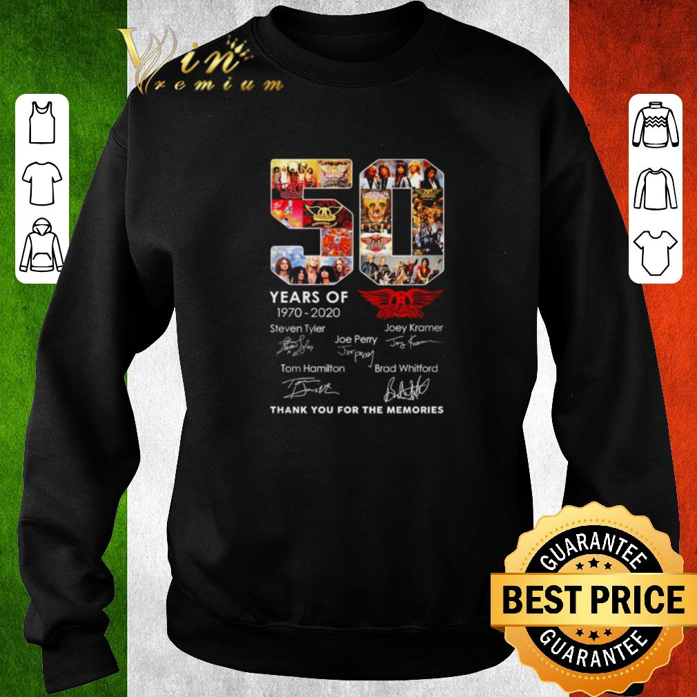 Hot 50 Years Of Queen 1970-2020 Signature Thank You For The Memories shirt