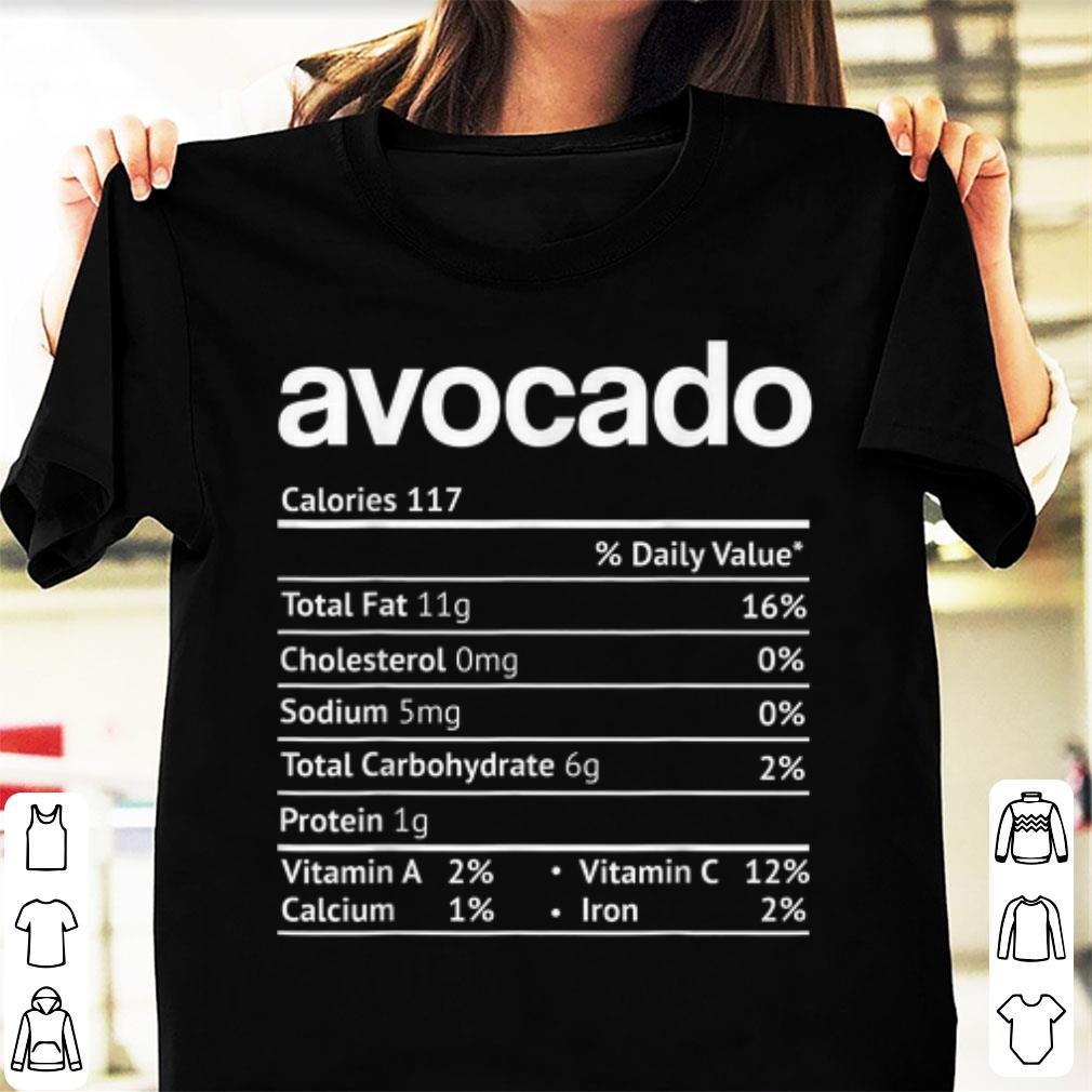 Hot Avocado Nutrition Facts Thanksgiving Christmas Shirt 1 1.jpg
