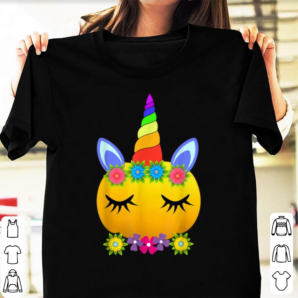 Hot Cute Unicorn Pumpkin Halloween Funny Thanksgiving Gift Shirt 1 1.jpg