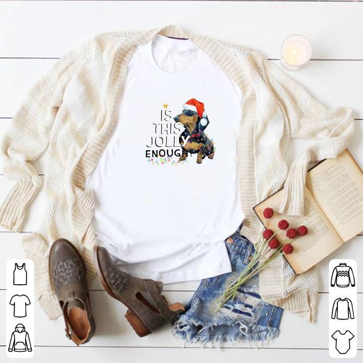 Hot Dachshund Is This Jolly Enough Christmas shirt