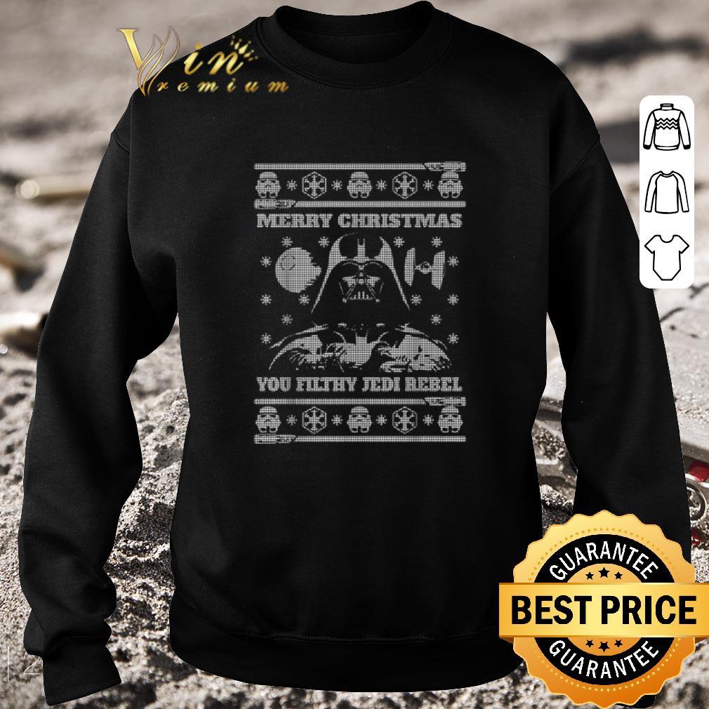 Hot Darth Vader Merry Christmas You Filthy Jedi Rebel Star Wars shirt