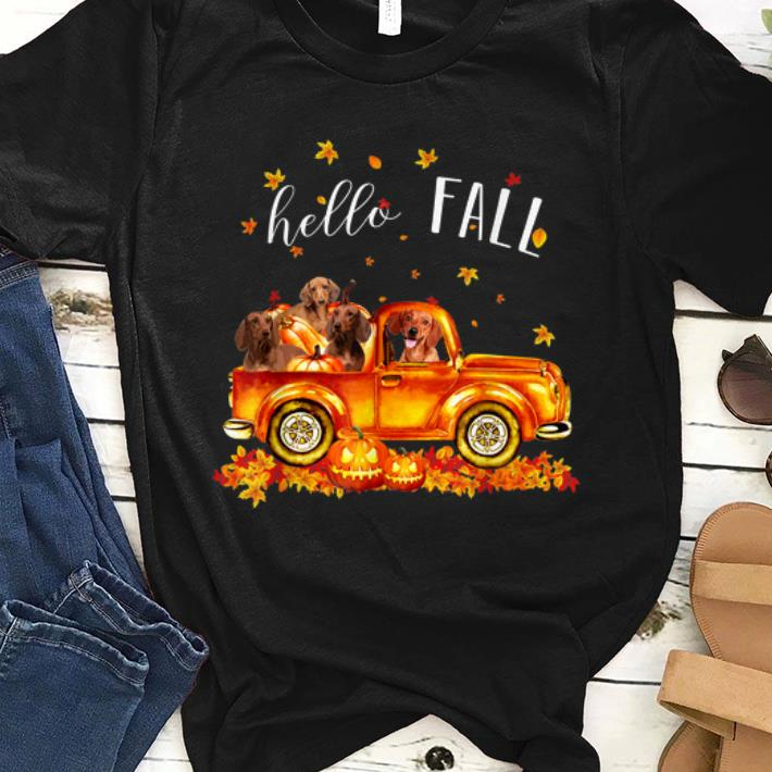 Hot Halloween Hello Fall Dachshund Funny Dachshund Gift Shirt 1 1.jpg