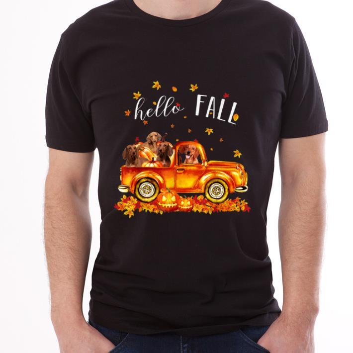 Hot Halloween Hello Fall Dachshund Funny Dachshund Gift Shirt 3 1.jpg