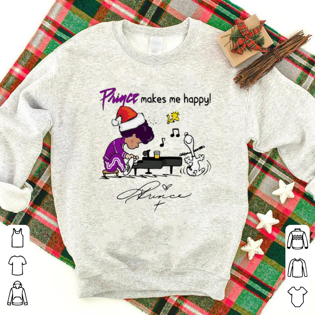 Hot Prince Makes Me Happy Schroeder Snoopy Peanuts Signature Shirt 1 1.jpg