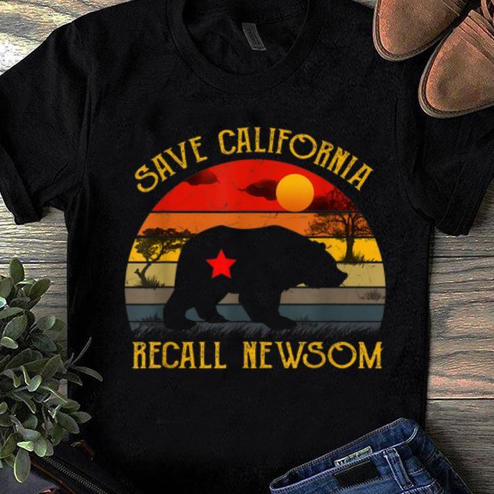 Hot Save California Recall Newsom Vintage Sunset Shirt 1 1.jpg