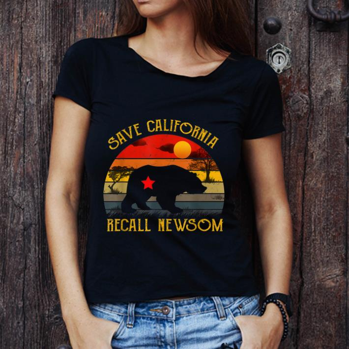 Hot Save California Recall Newsom Vintage Sunset Shirt 3 1.jpg