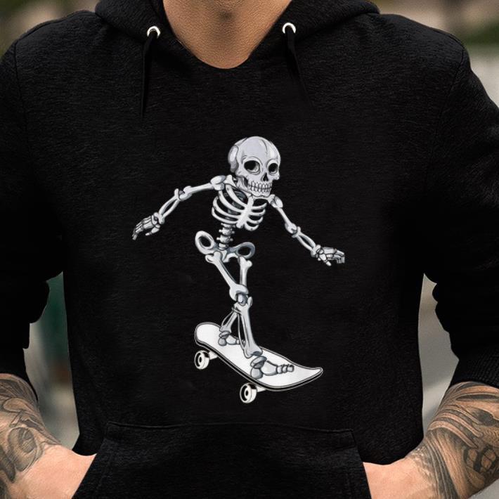 Hot Skeleton Skateboarding Skateboarder Halloween Shirt 2 1.jpg