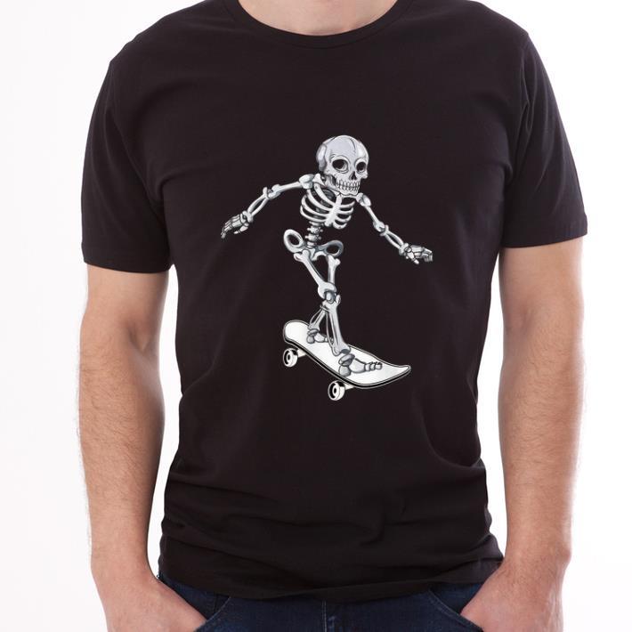Hot Skeleton Skateboarding Skateboarder Halloween Shirt 3 1.jpg