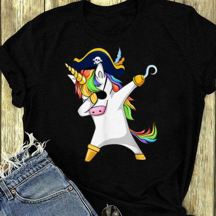 Nice Dabbing Unicorn Pirate Halloween Costume Gift shirt