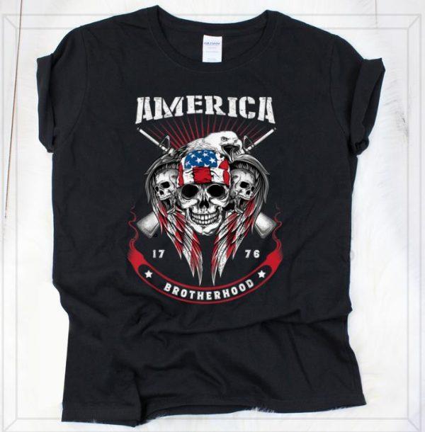 Official America Brotherhood 1976 Guns And Skulls Patriotic Shirt 2 1.jpg