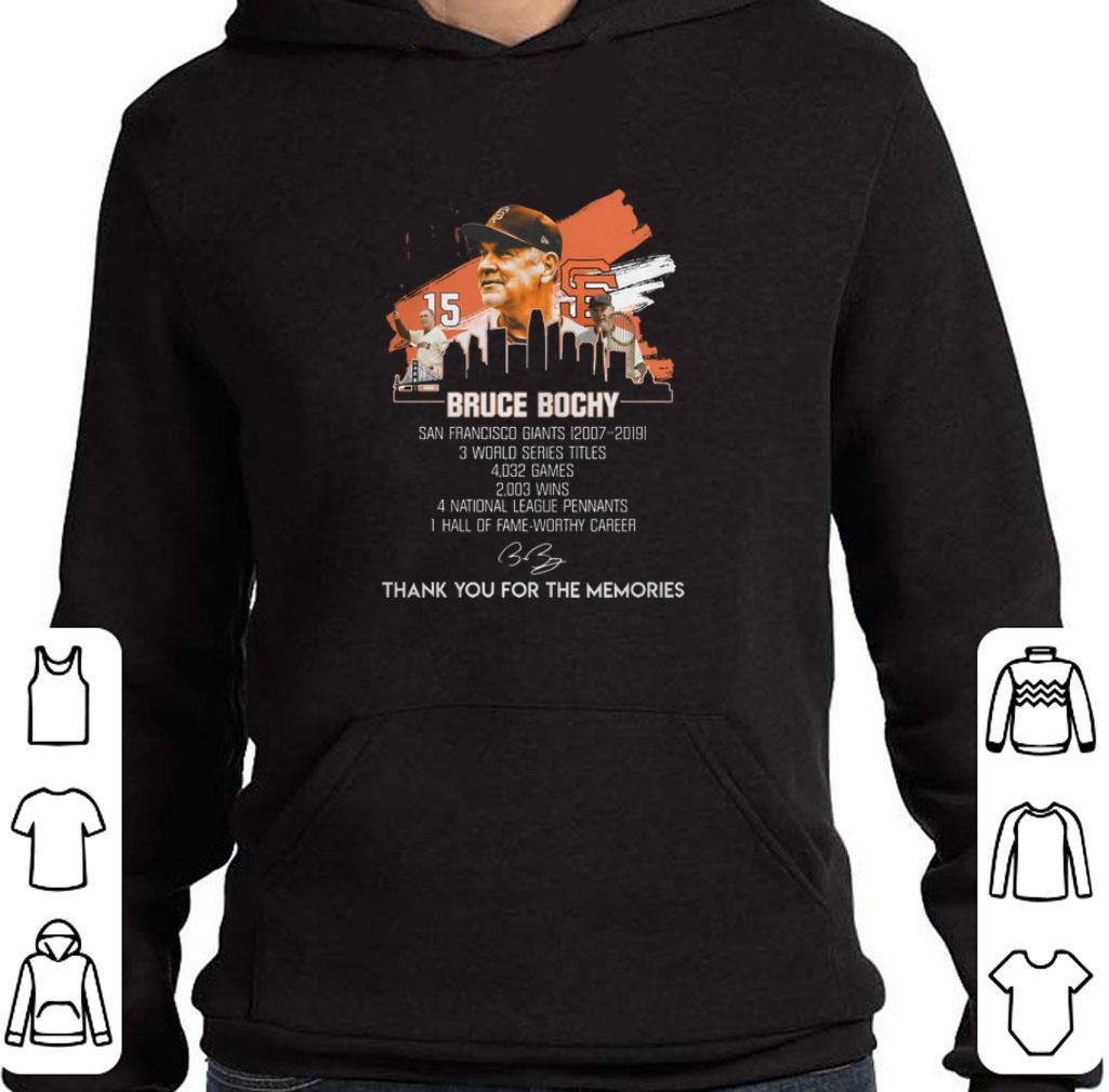 Official Bruce Bochy San Francisco Giants thank you for the memories shirt