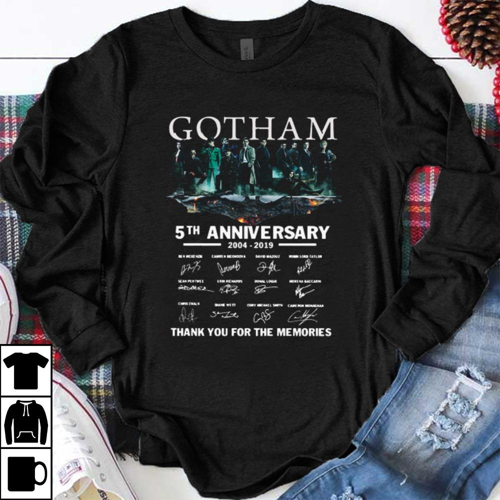 Official Gotham 5th Anniversary 2004 2019 Thank You For The Memories Signatures Shirt 1 1.jpg