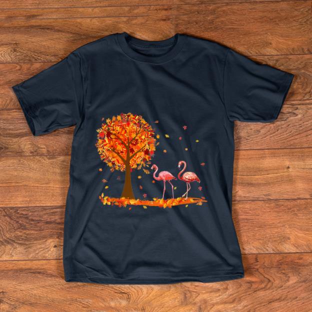 Official Hello Autumn Flamingo Maple Leaf Fall shirt