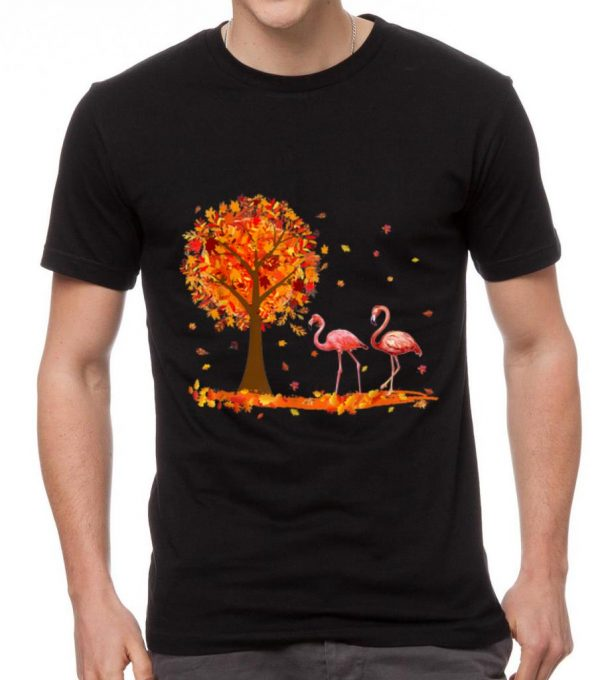 Official Hello Autumn Flamingo Maple Leaf Fall Shirt 2 1.jpg
