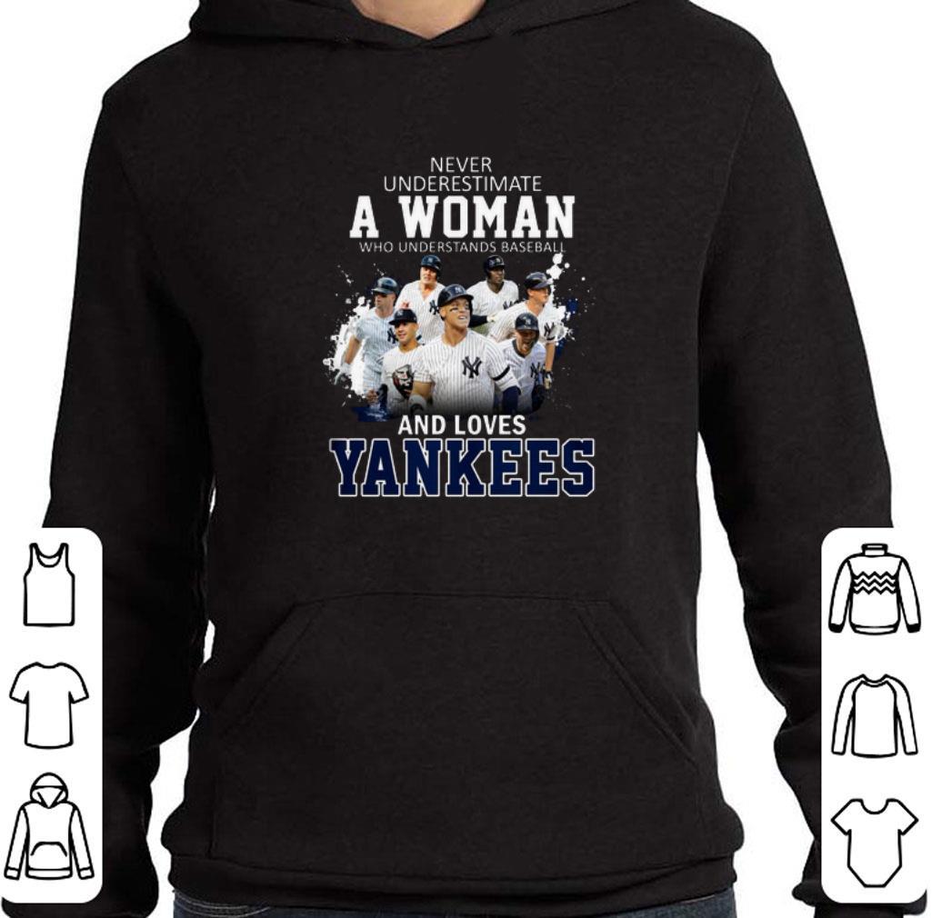 Official Never underestimate a woman who understands baseball Yankees shirt