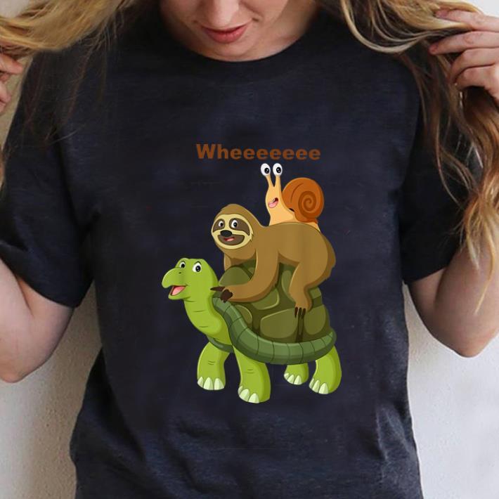 Official Turtle Sloth Snail Best Friend Wheee Shirt 3 1.jpg