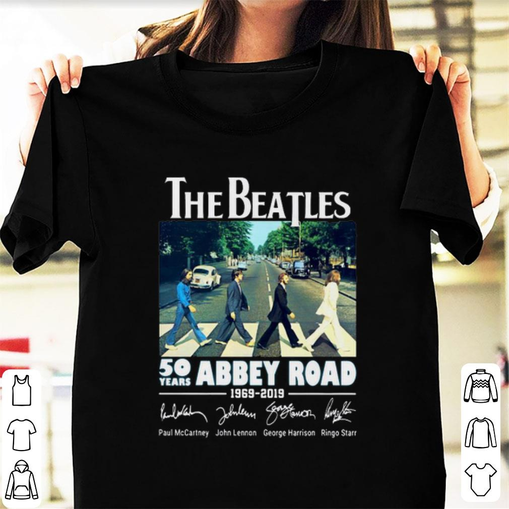 Premium 50 Years Abbey Road The Beatles 1969-2019 Signature shirt