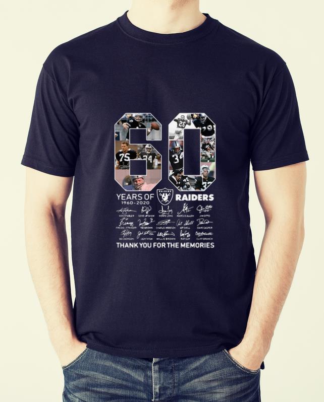 Premium 60 Years Of Oakland Raiders 1960 2020 Signature Thank You For The Memories Shirt 2 1.jpg