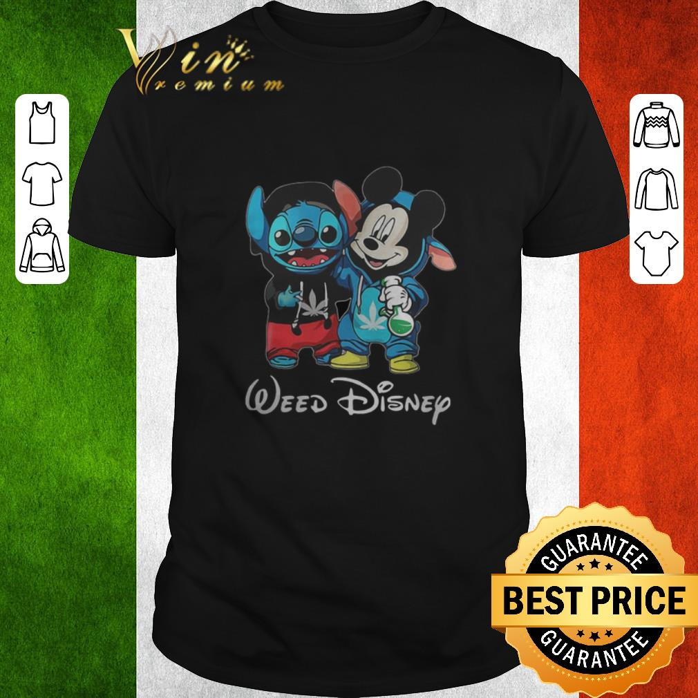 Premium Baby Stitch And Mickey Mouse Weed Disney Shirt 1 1.jpg
