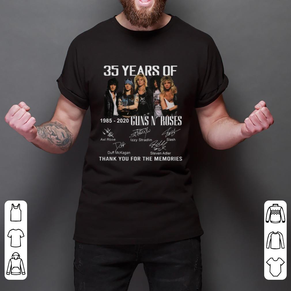 Pretty 35th Years Of Guns N Roses 1985 2020 Signature Shirt 2 1.jpg