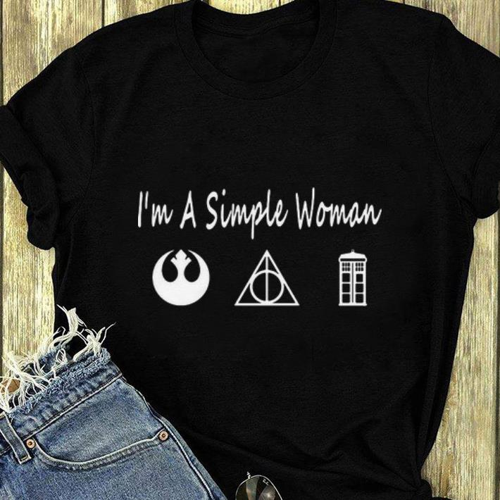 Top Jedi Order Deathly Hallows Police Box I'm A Simple Woman shirt