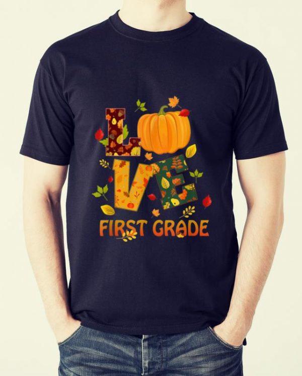 Top Love First Grade Teacher Thanksgiving Costume Pumpkin Shirt 2 1.jpg