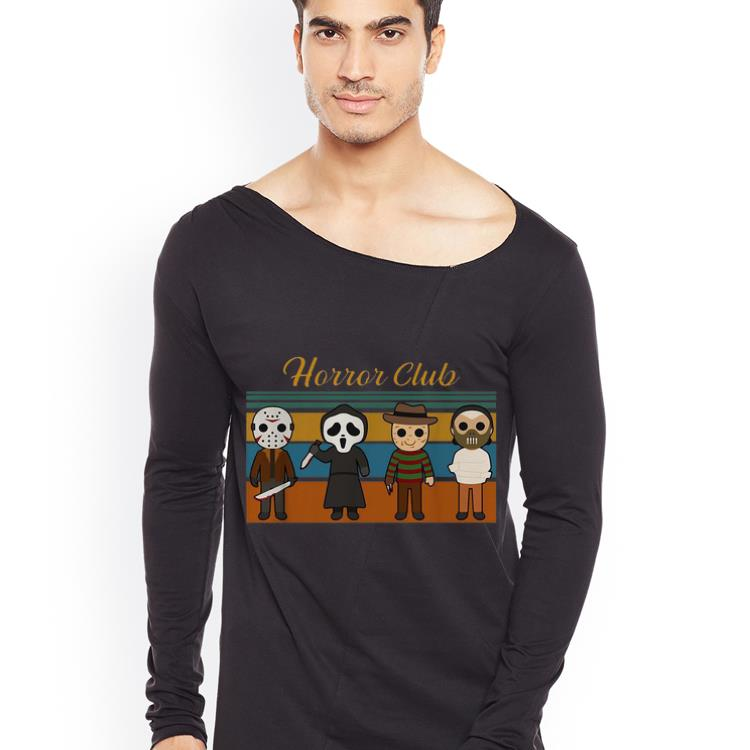 Top Vintage Horror Club Horror Character Halloween shirt