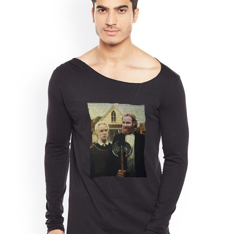 Awesome American Gothic Tormund and Brienne Westeros shirt