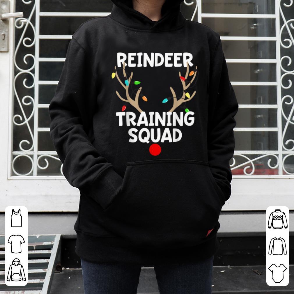 Awesome Christmas Running Reindeer Training Squad Matching 5k shirt